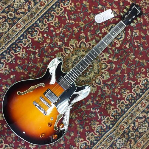 Eastman T386 - SB, Sunburst Nitrogloss Finish, Kent Armstrong Humbuckers w/Case (Pre-Owned)